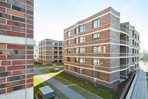 118 Wohnungen und sechs Gewerbeeinheiten umfassen die drei Gebäudekomplexe