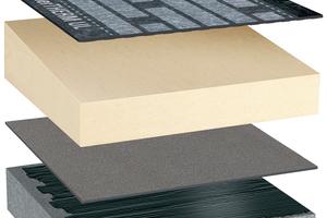 Hochwertiger Aufbau eines Flachdaches auf Beton