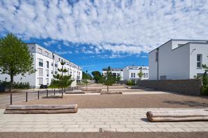 Konzipiert wurde das neue Quartier als autofreie Anlage mit Gärten und großzügigen Freiflächen.