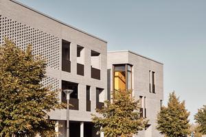 Die Außenwände wurden mit dem 510 mm langen Wasserstrich-Ziegel Polaris von Wienerberger erstellt