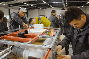 Die Vorproduktion ermöglicht deutlich reduzierte Durchlaufzeiten auf der Baustelle