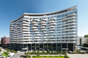 An das ehemalige BDI-Gebäude in Köln wurden im Zuge einer Sanierung Balkone an die Wohnungen angebracht