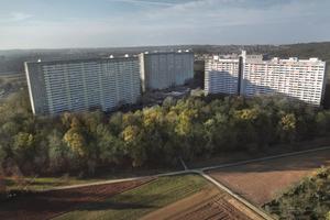 Wohnen mit Aussicht: Die Stuttgarter Siedlung Asemwald mit mehr als 1.100 Wohnungen