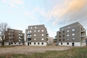 In Berlin-Adlershof sind drei Wohnhäuser in Holz-Hybridbauweise fertiggestellt worden