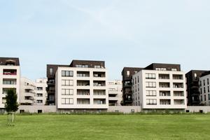 In nächster Nähe zur Goethe-Universität befinden sich die sechs Passivhäuser der ABG im Frankfurter Stadtteil Riedberg