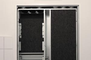 Geräuschlos und unsichtbar Lüften: die MultiZoneBoxen sind mit Trockenbauwänden verkleidet