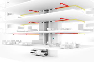 In Kombination mit einem gebäudezentralen Lüftungsgerät mit Wärmerückgewinnung<br />sorgt die neue KWL MultiZoneBox geräuschlos für eine bedarfsgerechte Be- und Entlüftung