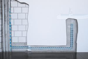 Ringinstallation mit Strömungverteiler bei selten benutzten Verbrauchern