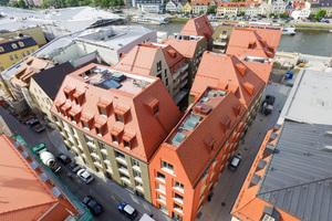 Das Ostermeier-Quartier fügt sich in der Altstadt von Regensburg wunderbar in die Umgebungsbebauung ein