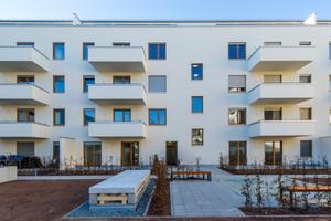 Großzügige Balkone und ein ruhiger Innenhof sorgen für gehobenen Wohnkomfort in Citylage