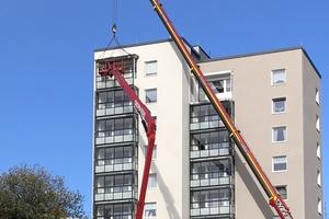 Innerhalb von fünf Monaten erhielten 75 Wohneinheiten einen verglasten Außenbereich, der die Nutzfläche um rund 6,5 m² erweitert