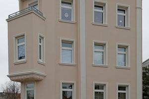 Nachher: Im Zuge der energetischen Sanierung bekam die Gründerzeitvilla ihre Stuckornamentik zurück und präsentiert sich mit einer dem Stil des Historismus angepassten Farbigkeit