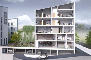 Das Stadtquartier am Adlershof entsteht bis Anfang 2020. Studenten, Singles, Familien und Senioren sollen hier ein Zuhause finden
