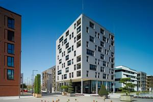 Ganz in Holz: Das Hochhaus erfüllt höchste Standards an Gestaltung und Nachhaltigkeit