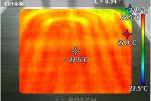 Die Fußbodenheizung sorgt für eine vollflächige und behagliche Wärmeabgabe
