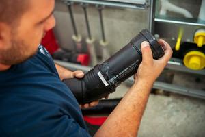 Geberit Silent-PP heißt das Rohrsystem, das in den Bädern für die Entwässerung sorgt