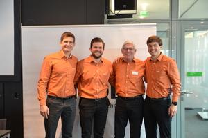 Das Führungsquartett hat gut lachen: (v.l.n.r.). Mark Bauder, Tim Bauder, Gerhard Einsele und Jan Bauder.