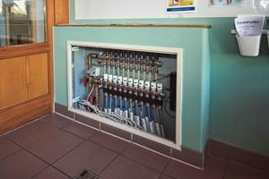 Der System-Umbau wurde auch durch die kompakte Bauweise des neuen Verteilers erleichtert