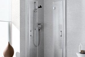 Die LIGA Pendel-Falttüren können bei Nichtgebrauch platzsparend nach innen oder außen an die Wand gefaltet werden
