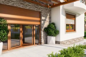 PVC-Rollläden können auf praktisch jeden Gebäudestil und jede Fassadenfarbe abgestimmt werden