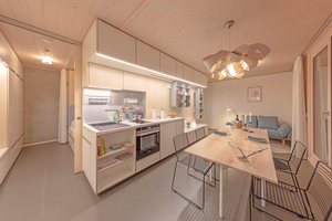 Maximaler Komfort auf minimaler Fläche – Innenansicht einer Wohnung im SKAIO