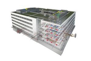Die Daten aus den BIM-Modellen werden bereits während der Planungs- und Bauphase zur Vermeidung von Kollisionen verwendet und bilden die Grundlage für eine effiziente Bewirtschaftung der Gebäude