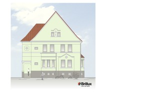... dessen genaue Farbnuance anhand von Musterflächen an der Fassade gemeinsam mit dem Eigentümer definiert wurde