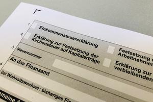Formular für die Einkommensteuererklärung
