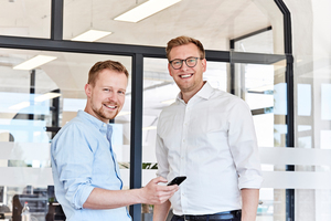 Das Gründer-Team der REOS GmbH: Tom Leppin (links) und Kjell Ole Kröger.