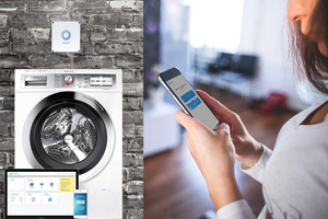 Waschmaschinen und Trockner können per Smartphone-App, Web-App oder Telefon gebucht werden