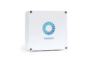 Die WeWash Box ermöglicht die digitale Abrechnung und ist mit jedem Gerätetyp kompatibel