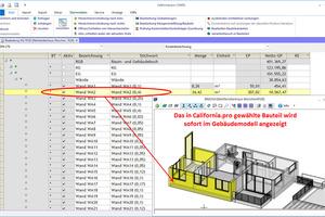 """<irspacing style=""""letter-spacing: -0.02em;"""">Das in California.pro gewählte Bauteil wird sofort im Gebäudemodell angezeigt</irspacing>"""