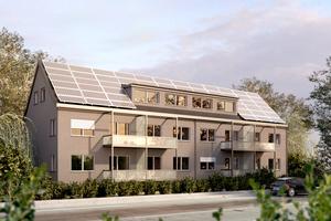 So soll der Wohngebäude in Rüdesheim nach Abschluss der Vollmodernisierung später aussehen