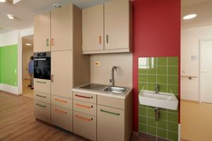 Grün und Rot geben den Ton an: Grüne Felder verleihen Räumen eine beruhigende Wirkung