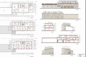 Pläne des sanierten Wohngebäudes