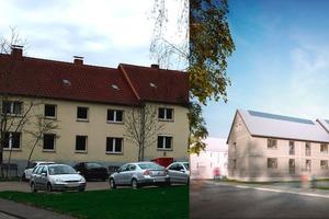 Der erste Energiesprong-Pilot in Hameln ist fast fertiggestellt. Der vormals unbewohnbare 1930er-Jahre-Wohnblock erreicht jetzt den NetZero-Standard
