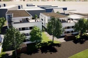 Das Wohnbauprojekt ist im Übergang von den Leistungsphasen 3 und 4. Die Fachplanungen werden in den kommenden Wochen aus IFC-Daten im Archicad zusammengeführt und über den Model-Checker Solibri regelbasiert überprüft