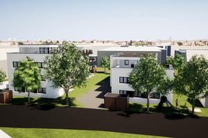 In der Nähe der Günzburger Altstadt sollen bis zum Jahr 2023 zwei Wohntürme mit insgesamt 21 Wohneinheiten für seniorengerechtes Wohnen entstehen