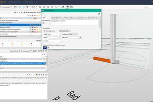 """In dem Projekt arbeiten TGA-Planung, Tragwerksplanung, Architektur und Holzbau BIM-basiert. In der Abbildung lassen sich die sogenannte Issues nach der Modellprüfung des TGA-Modells erkennen sowie im Fenster """"Problemdetails"""" deren Beschreibung. Die Issues können anschließend an den Fachplaner zur Problembehebung zurückgespielt werden"""