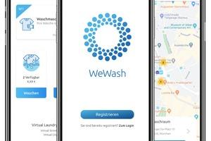 Mit der WeWash App (iOS, Android) können Nutzer freie Maschinen reservieren und buchen. Und werden per Push-Nachricht oder E-Mail informiert, sobald ihre Wäsche fertig ist