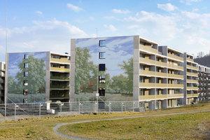 """Im """"Schweighof"""" wurden die Fassaden von drei Häusern mit Bildern des Schweizer Malers Robert Zünd verziert: Sie zeigen, wie die Landschaft dort vor über hundert Jahren aussah"""
