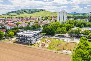 Fellbach im schönen Remstal: Für die neue Kita und Fachschule des Trägers Konzept-e in Modulbauweise wurden ehemalige Landwirtschaftsflächen in Baugrund umgewandelt