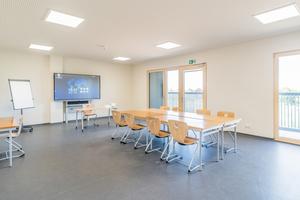 Die Lernräume für die 75 Fachschüler Hbefinden sich im zweiten Obergeschoss