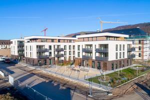 Die von der Stiftung Schönau gebauten Wohnungen liegen im Herzen des neuen Südstadt-Quartiers zwischen Karlstorbahnhof und Paradeplatz. 32 der insgesamt 38 Wohnungen sind im preisgedämpften Segment angesiedelt.<br />