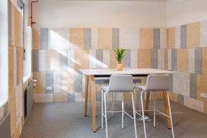 Die Küche wurde zur klima- und umweltfreundlichen Lounge umgewidmet