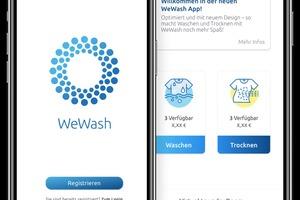 Über die WeWash App können Mieter bequem eine Waschmaschine und einen Trockner reservieren. Alternativ funktioniert dies auch telefonisch oder online