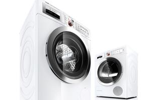 Die energieeffizienten Maschinen von Bosch sparen im Vergleich zu herkömmlichen Maschinen erheblich Energie, CO<sub>2</sub> und Wasser