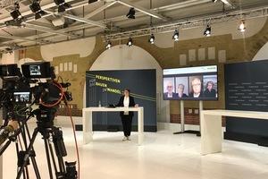 Einblick in das Studio Bund während des Livestreams