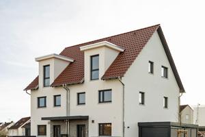"""Das Musterhaus """"FrankfurtPUR"""" steht bereits auf dem Baugelände zur Besichtigung offen."""
