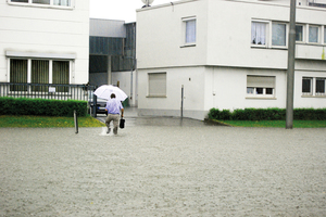 Starkregen ist ein zunehmendes Problem bei gleichzeitig immer stärker versiegelten Böden